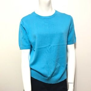 Brooks Brothers 346 Blue Sweater Top